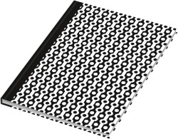 "Kladde / Notizbuch ""black & white Collier"", DIN A5, dotted, 96 Blatt"