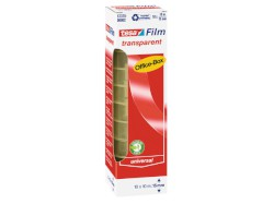 tesafilm® transparent, 10 Rollen 10m : 15mm, Office Box